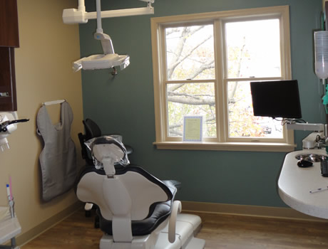 Dental exam chair | general dentist | Nathanson Dental | Hunt Valley MD
